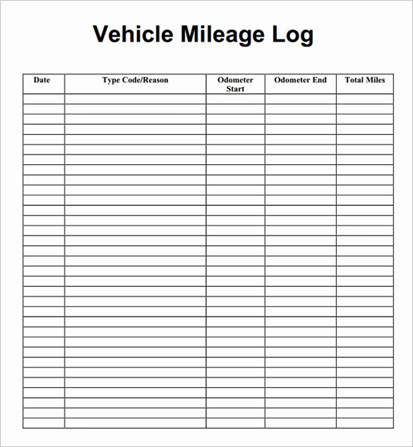 Printable Mileage Log for Taxes Best Of 9 Mileage Log Templates Doc Pdf