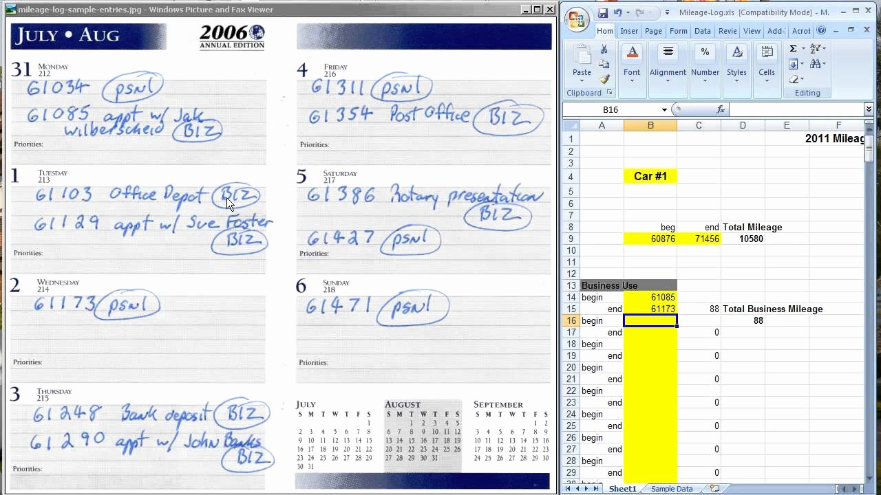 Printable Mileage Log for Taxes Elegant the Easiest Way to Keep A Mileage Log for Tax Deductions