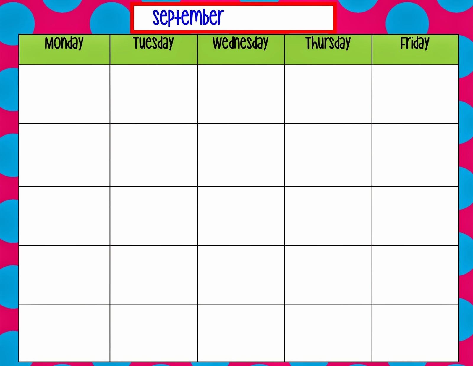 Printable Monday Through Friday Calendar Beautiful 9 Best Of Monday Through Friday Planner Printable