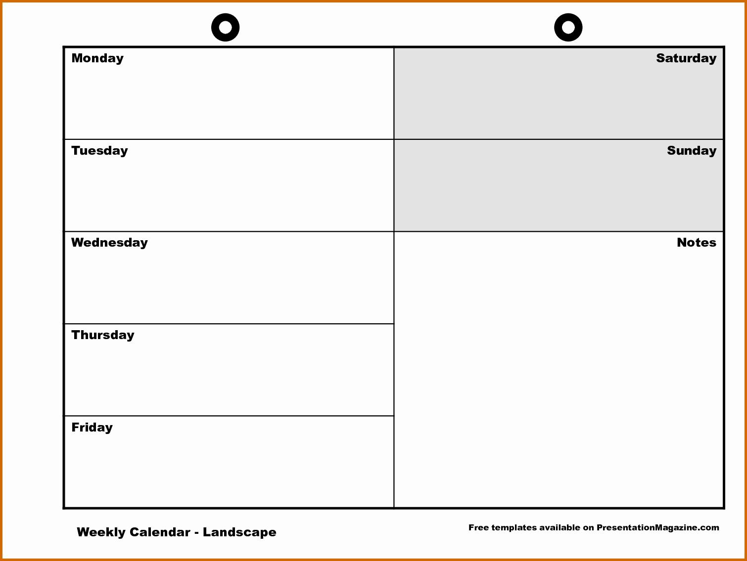 Printable Monday Through Friday Calendar Elegant 11 Monday Through Friday Printable Calendar
