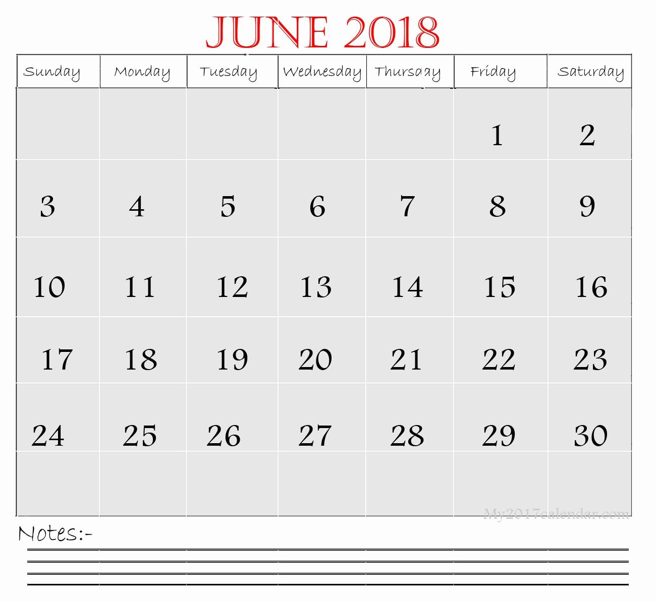 Printable Monday Through Friday Calendar Fresh June 2018 Printable Monthly Calendar Template Monday