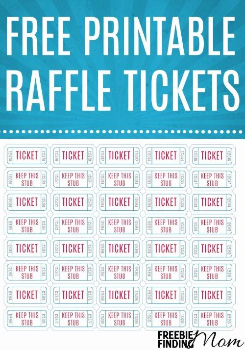Printable Raffle Tickets Blank Kids Beautiful Free Printable Raffle Tickets