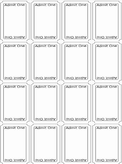 Printable Raffle Tickets Blank Kids Beautiful the 25 Best Ticket Template Free Ideas On Pinterest