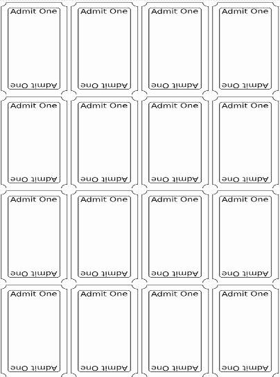 Printable Raffle Tickets Blank Kids Beautiful the 25 Best Ticket Template Free Ideas On Pinterest