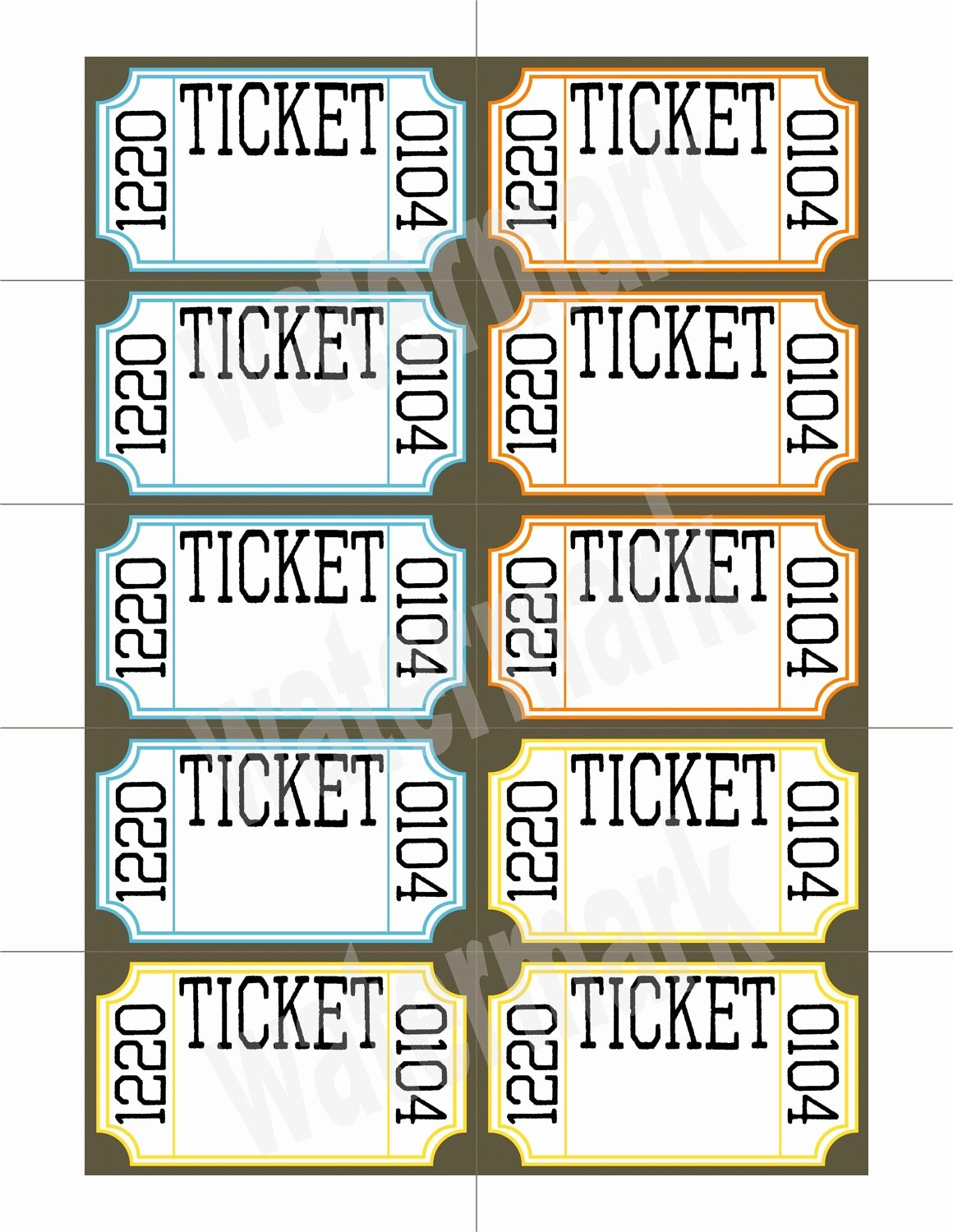 Printable Raffle Tickets Blank Kids Elegant Unavailable Listing On Etsy