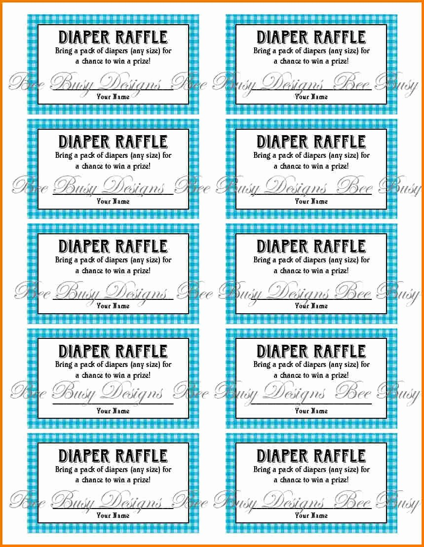 Printable Raffle Tickets Blank Kids Fresh Free Printable Raffle Ticket Template