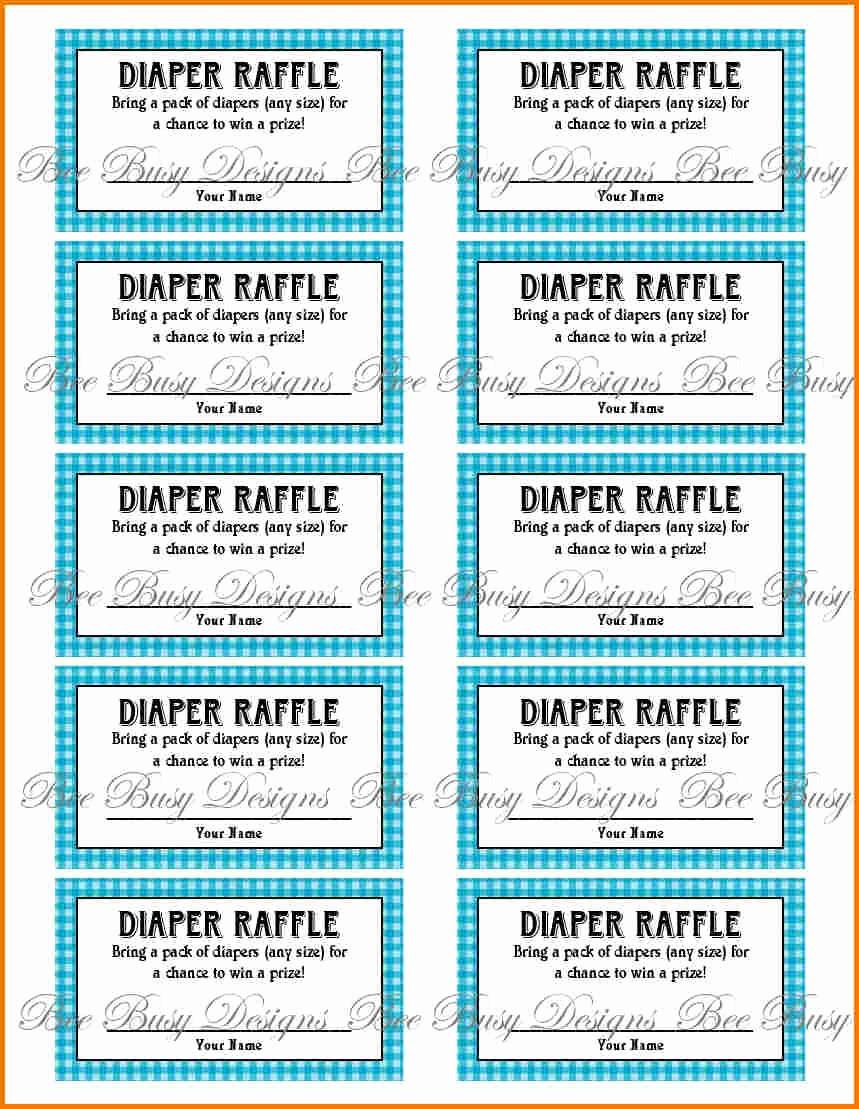 Printable Raffle Tickets Blank Kids Fresh Free Printable Raffle Ticket Template