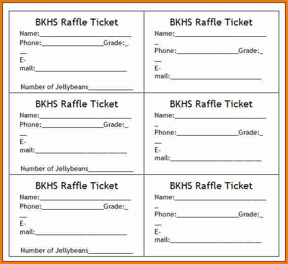 Printable Raffle Tickets Blank Kids Lovely Tickets Template