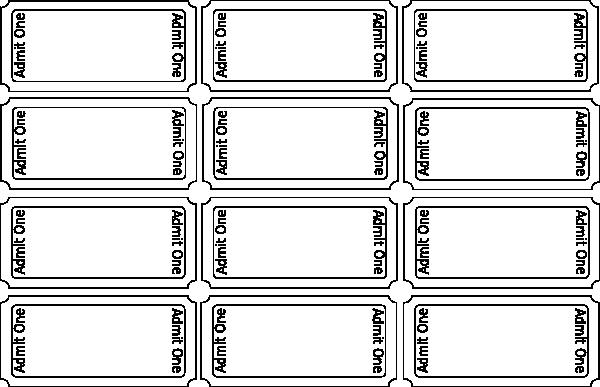 Printable Raffle Tickets Blank Kids Luxury Blank Tickets Clip Art at Clker Vector Clip Art