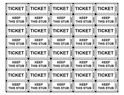 Printable Raffle Tickets Blank Kids Unique Free Printable Raffle Ticket Templates Blank