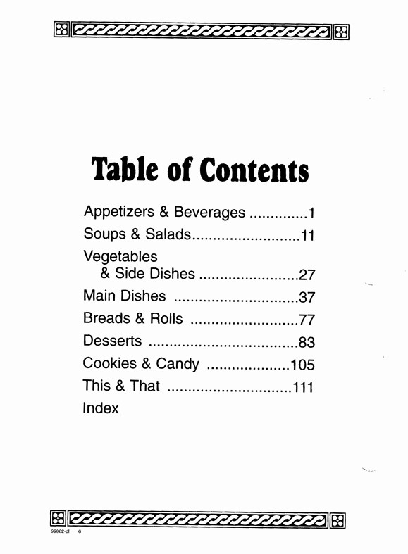 Printable Table Of Contents Template Elegant Cookbook Table Contents Template Invitation Template