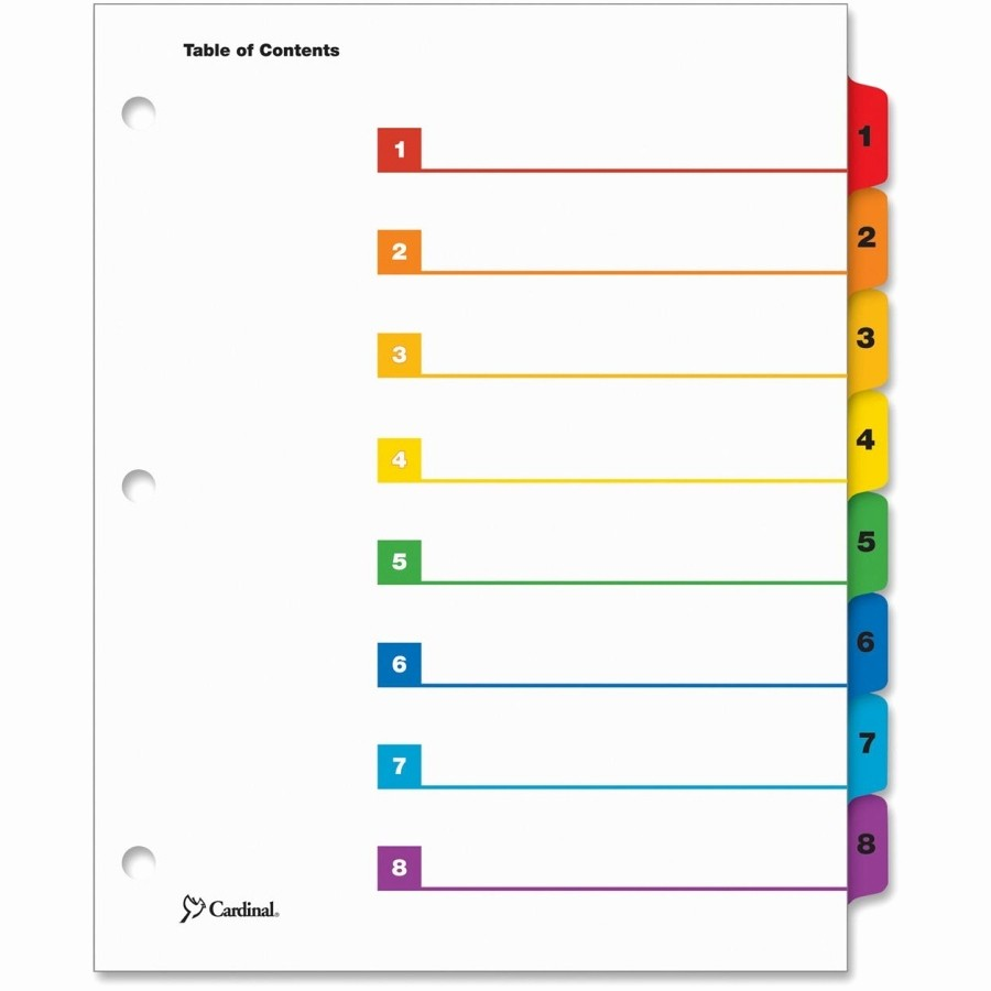 Printable Table Of Contents Template Fresh 5 Best Of 8 Tab Divider Tabs Printable Printable