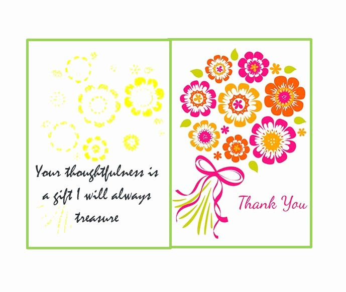 Printable Thank You Note Template Awesome 30 Free Printable Thank You Card Templates Wedding