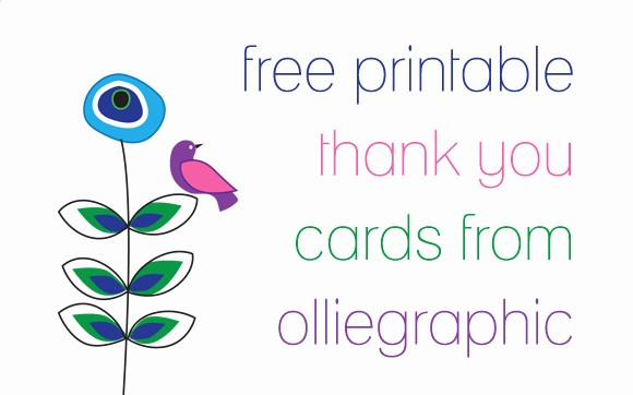 Printable Thank You Note Template Awesome Free Download Olliegraphic Thank You Cards – Oh My Handmade
