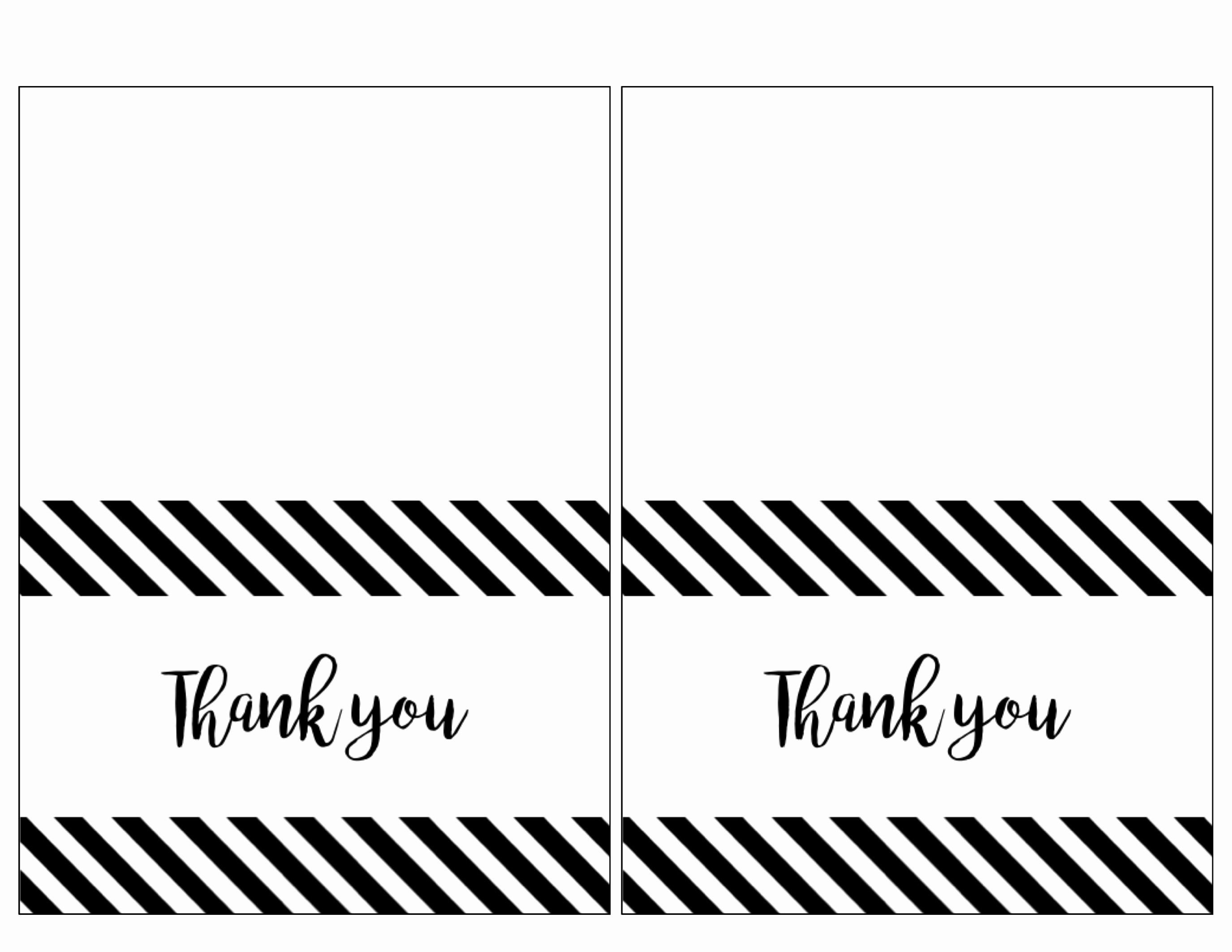 Printable Thank You Note Template Beautiful Free Thank You Cards Print Free Printable Black and White