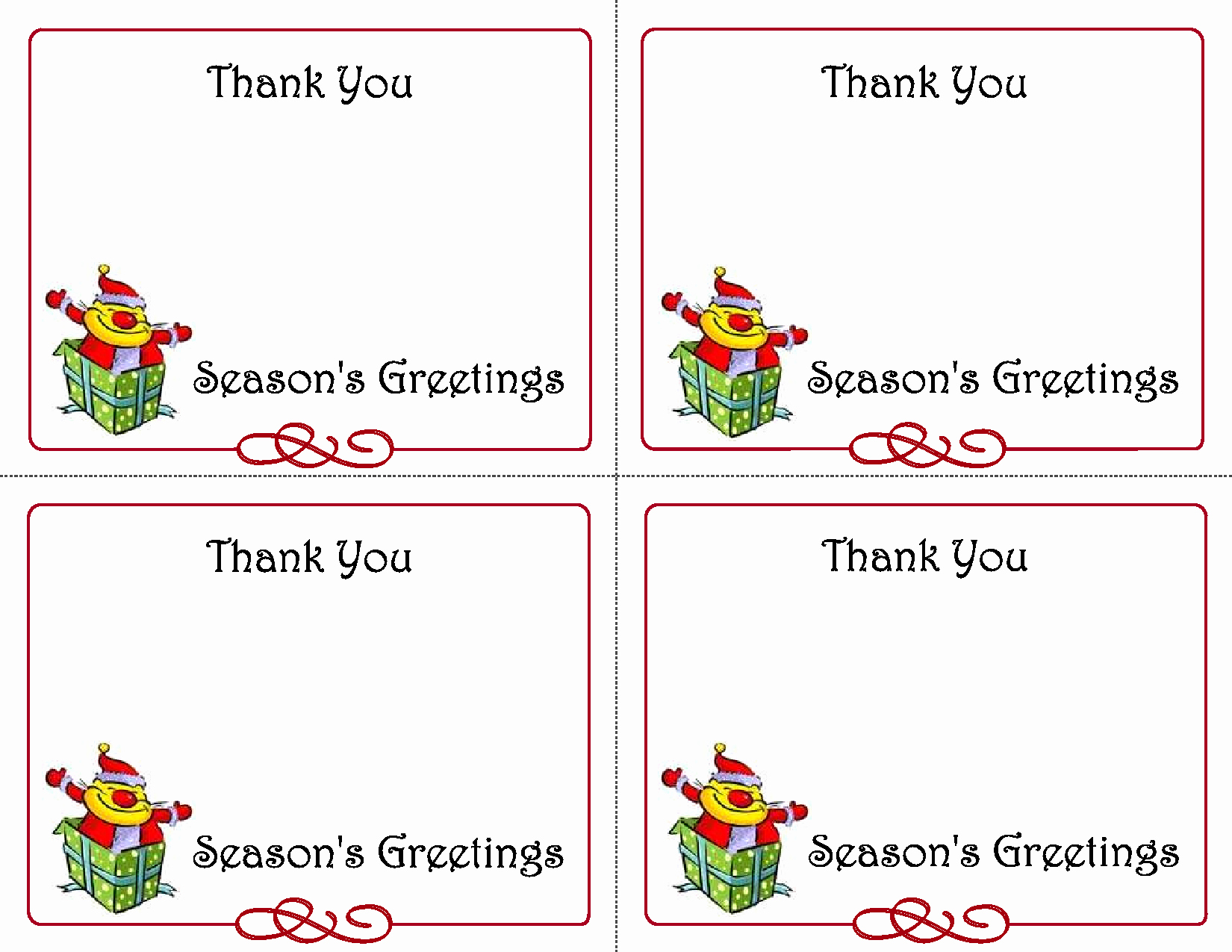 Printable Thank You Note Template Best Of 5 Best Of Printable Christmas Thank You Card