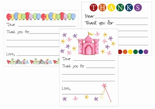 Printable Thank You Note Template Best Of Printable Thank You Card Templates for Kids