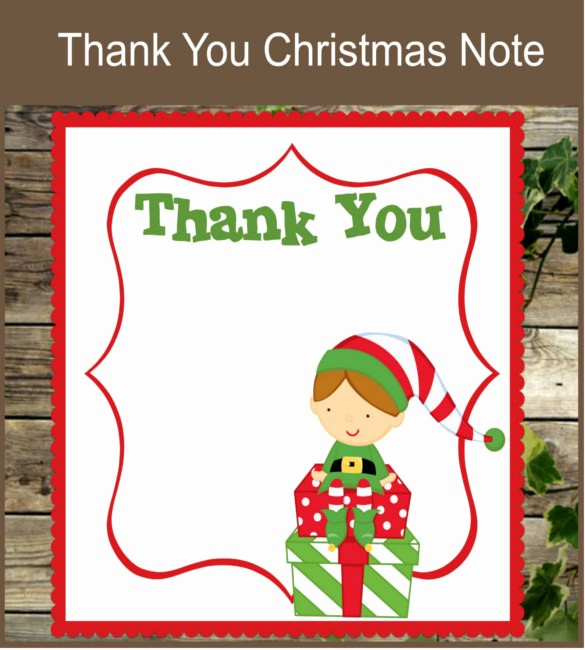 Printable Thank You Note Template Fresh 10 Christmas Thank You Notes – Free Sample Example