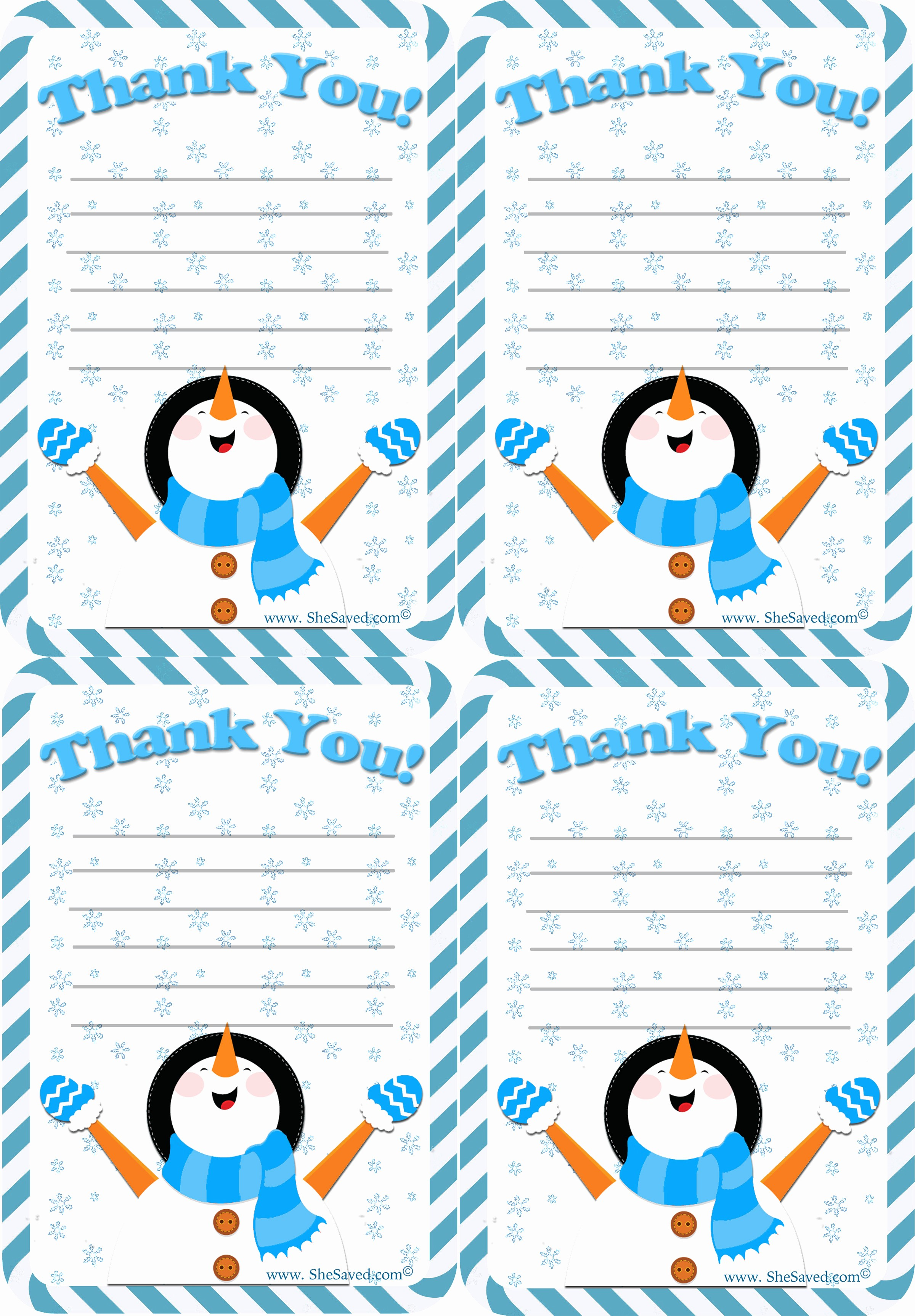 Printable Thank You Note Template Fresh Free Holiday Thank You Letter Printable