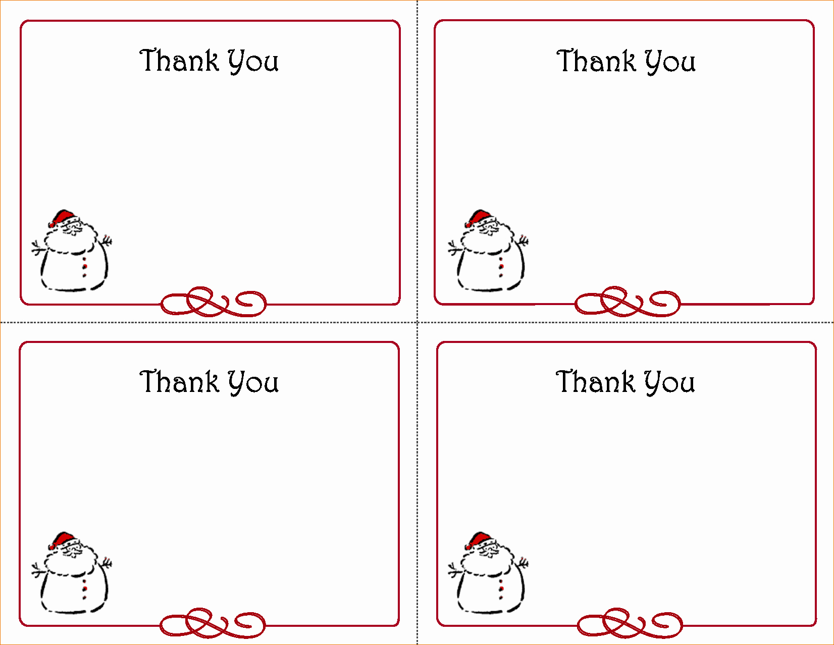 Printable Thank You Note Template Inspirational 5 Free Thank You Card Template
