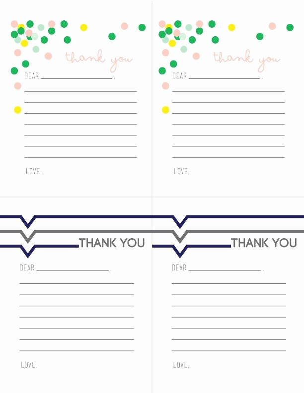 Printable Thank You Note Template Inspirational Printable Thank You Notes for Children