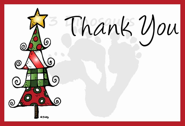 Printable Thank You Note Template Luxury Free Christmas Thank You Notes