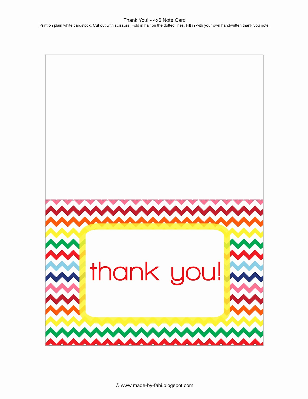 Printable Thank You Note Template New Printable Thank You Card
