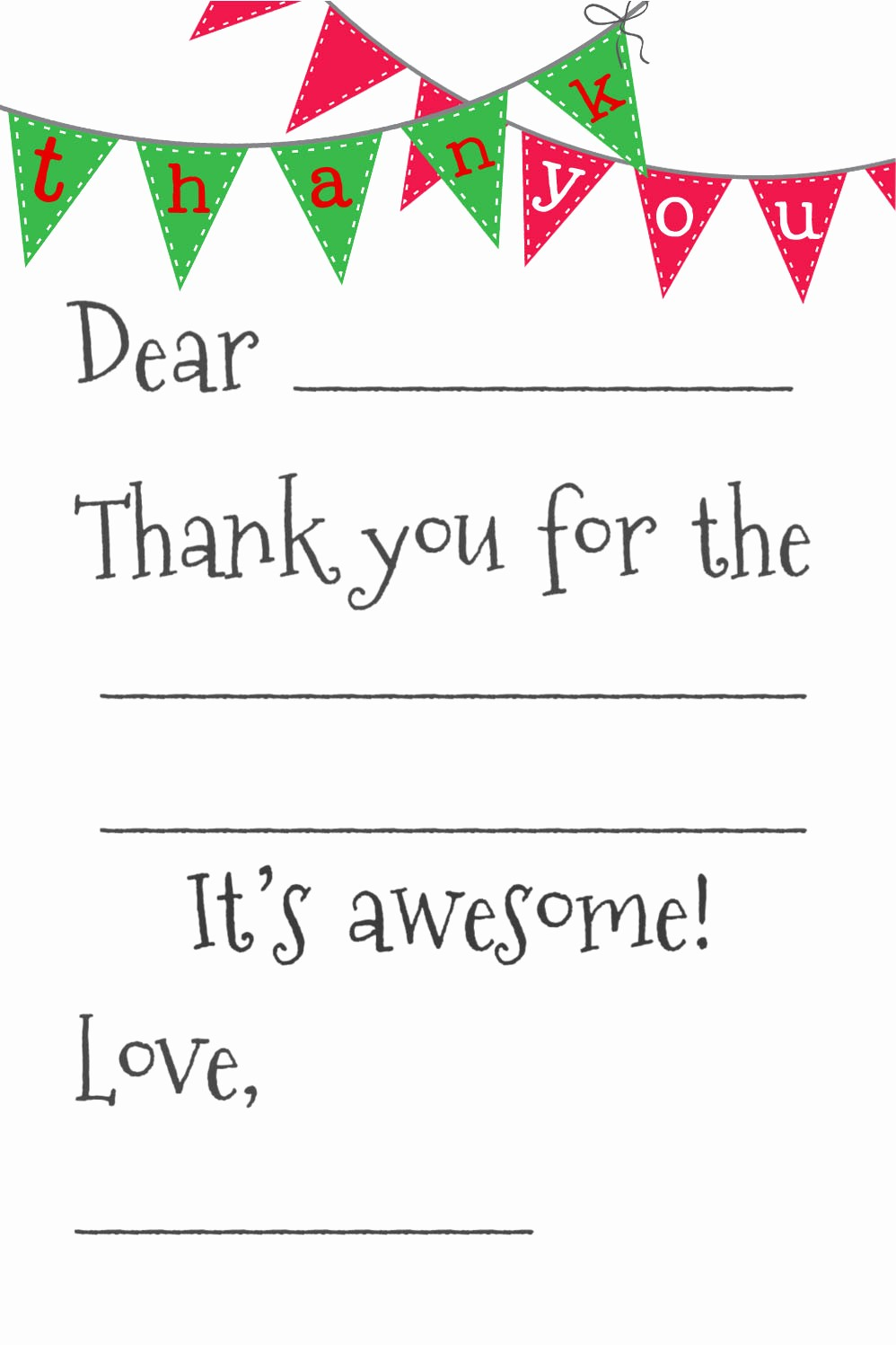 Printable Thank You Note Template Unique 8 Best Of Printable Blank Thank You Cards Free
