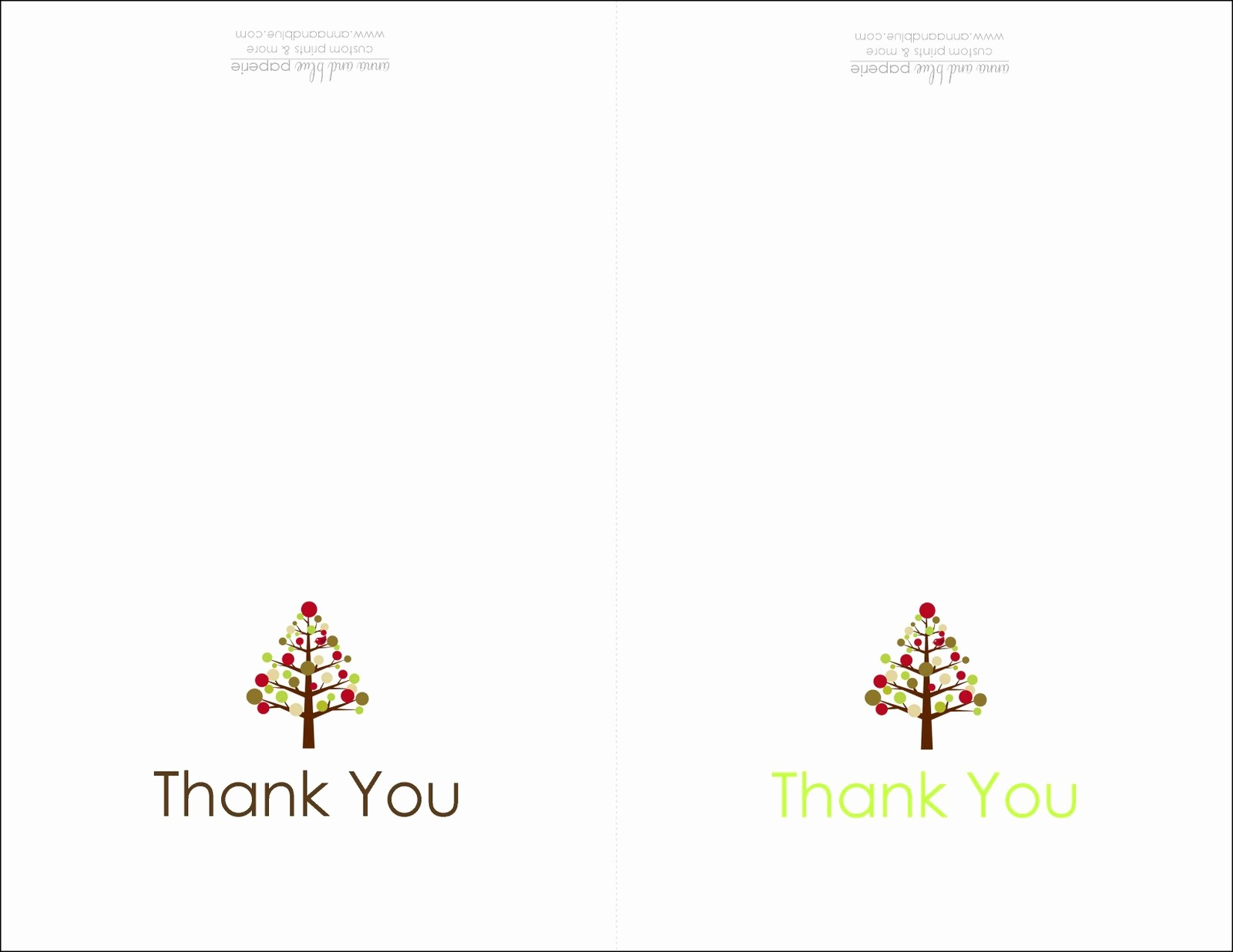 Printable Thank You Note Template Unique Anna and Blue Paperie Free Printable Holiday Thank You Note