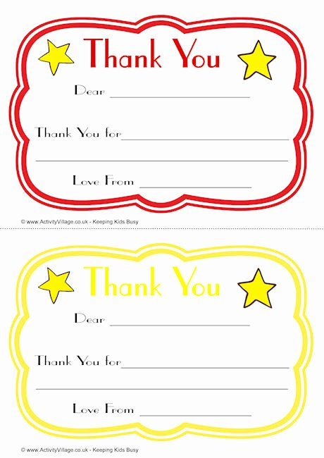 Printable Thank You Note Template Unique Curvy Thank You Notes