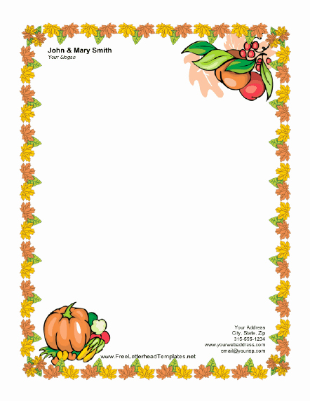 Printable Thanksgiving Menu Template Free Awesome Thanksgiving Letterhead Templates – Happy Easter