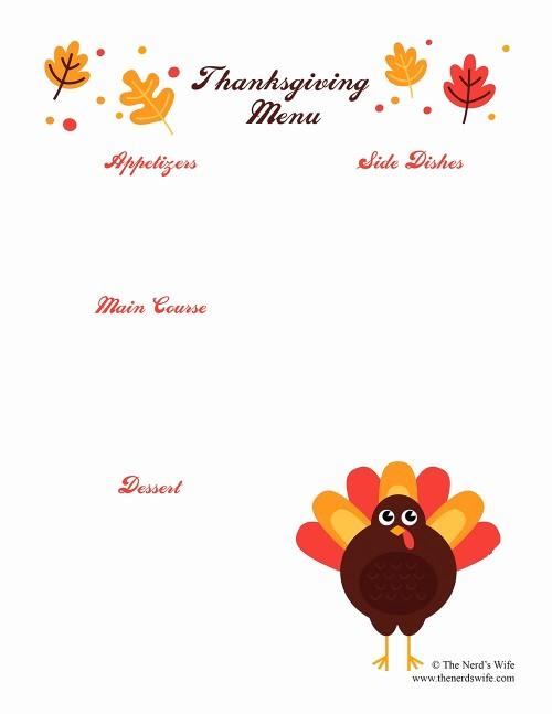 Printable Thanksgiving Menu Template Free Beautiful Thanksgiving Preparation with Intel 2 In 1