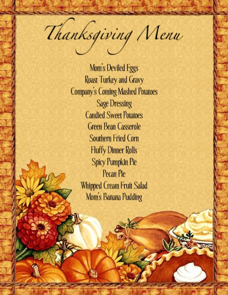 Printable Thanksgiving Menu Template Free Best Of Thanksgiving Dinner Menu Planner Templates – Happy Easter