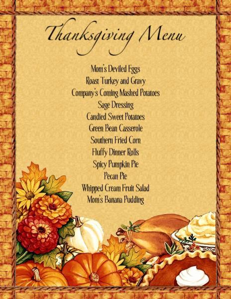 Printable Thanksgiving Menu Template Free Best Of Thanksgiving Dinner Menu Planner Templates – Happy Easter