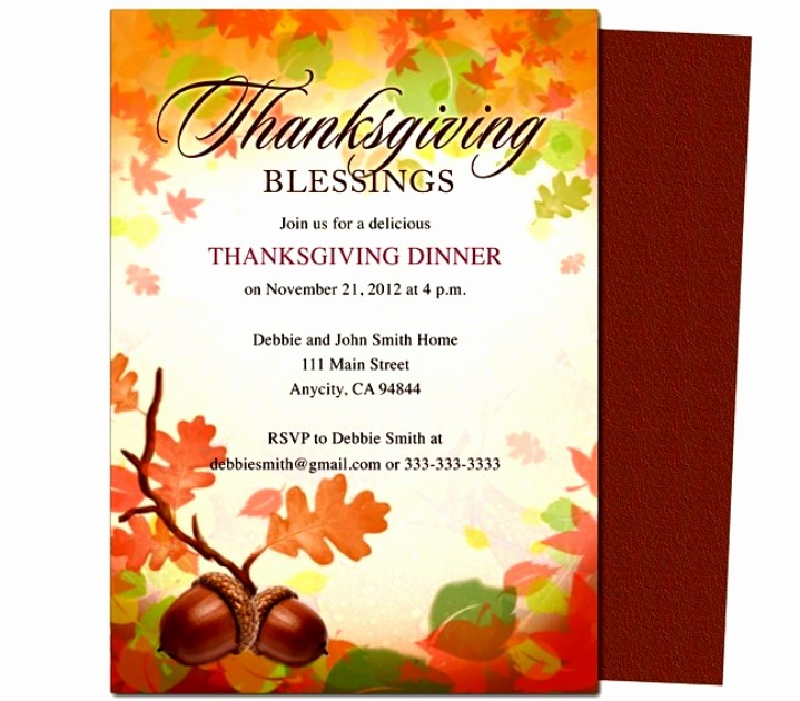 Printable Thanksgiving Menu Template Free Fresh Free Printable