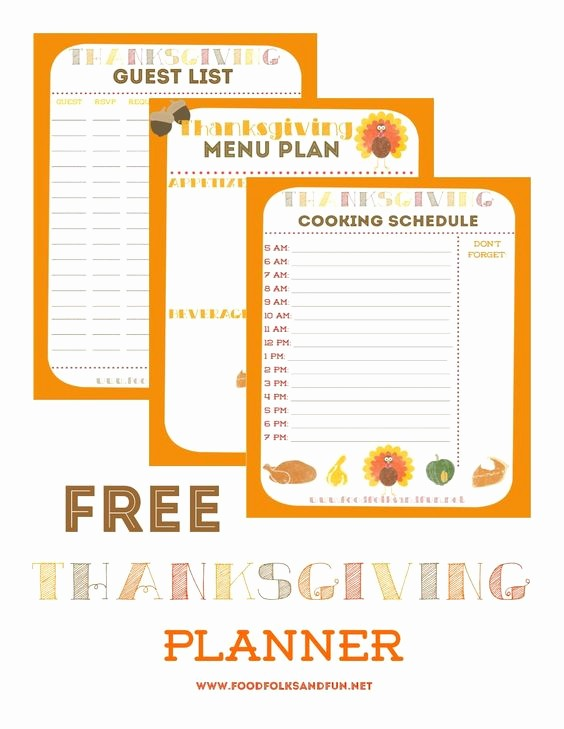 Printable Thanksgiving Menu Template Free Fresh 15 Thanksgiving Planning Printables and Checklists