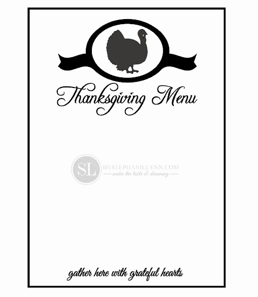 Printable Thanksgiving Menu Template Free Fresh 7 Best Of Printable Blank Thanksgiving Menu