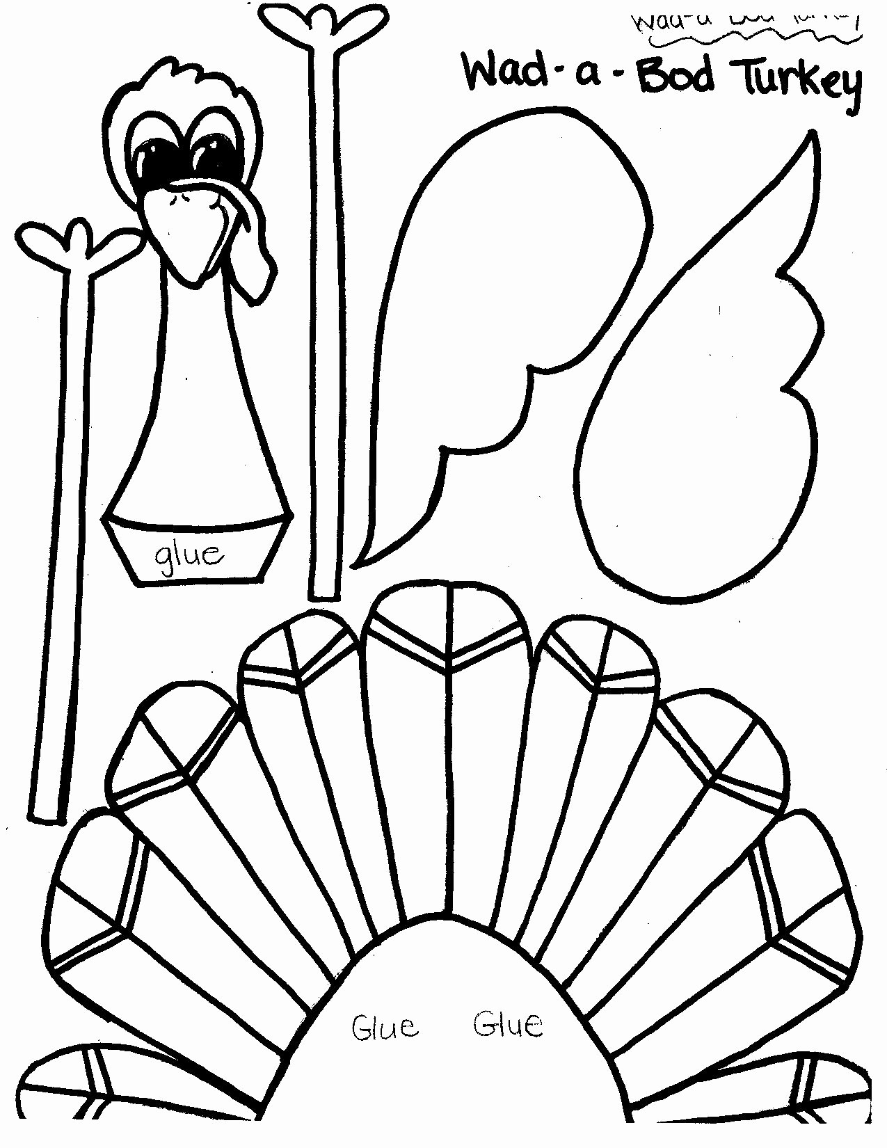 Printable Thanksgiving Menu Template Free Fresh Free Printable Turkey Templates – Happy Easter