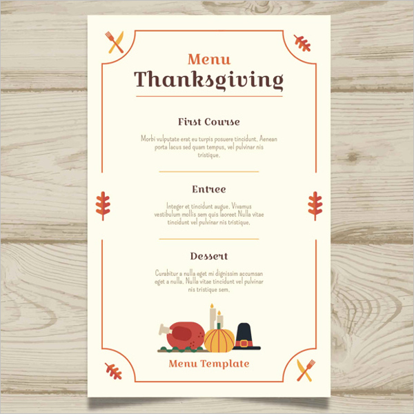 Printable Thanksgiving Menu Template Free Inspirational 36 Thanksgiving Menu Templates Free Sample Designs