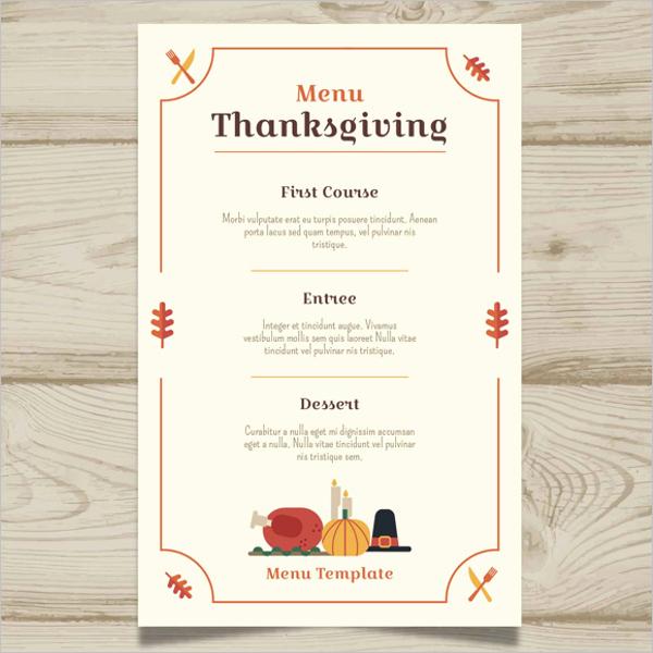 Printable Thanksgiving Menu Template Free Inspirational 36 Thanksgiving Menu Templates Free Sample Designs