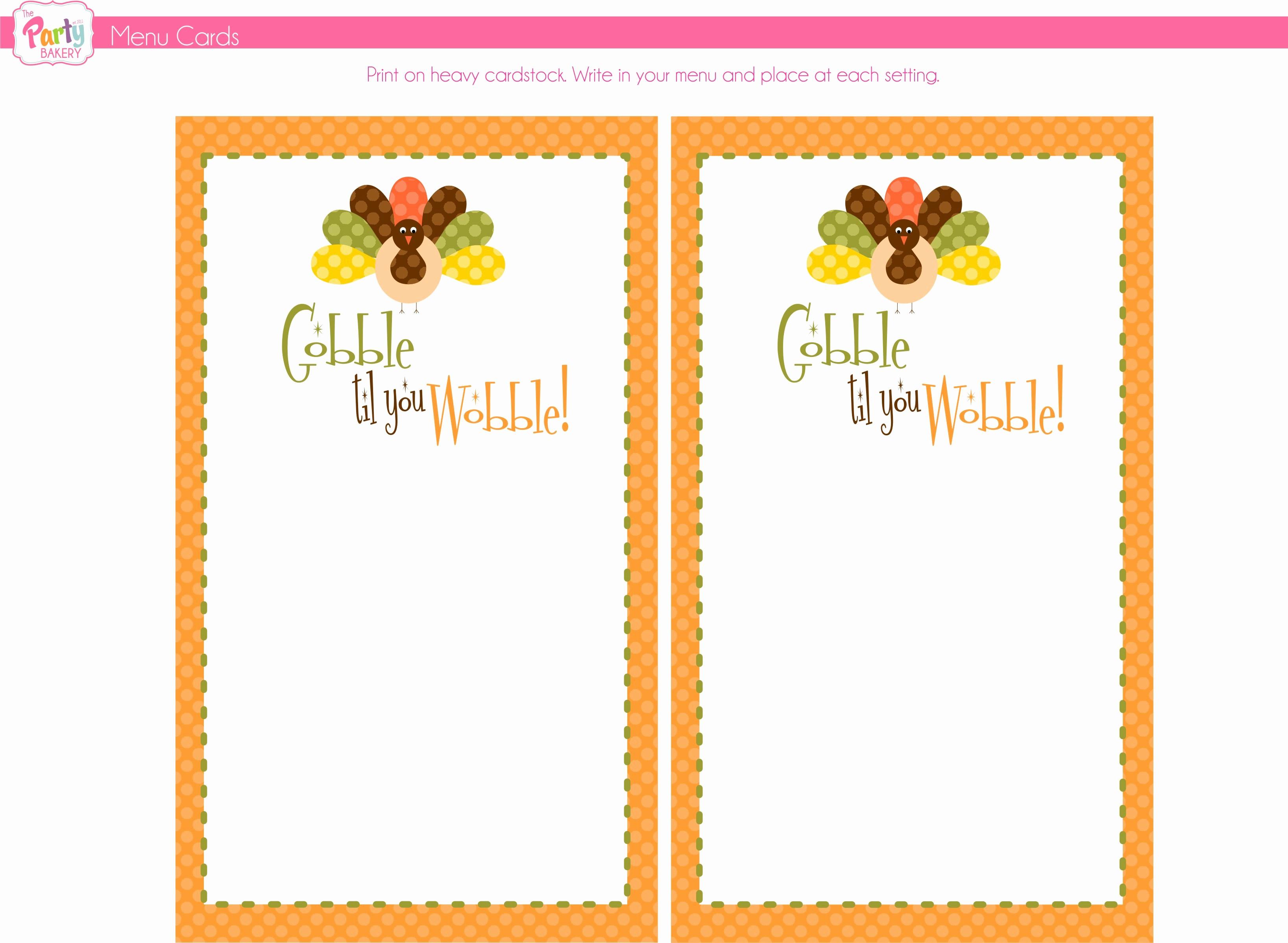 Printable Thanksgiving Menu Template Free Inspirational 8 Best Of Free Thanksgiving Printable Card