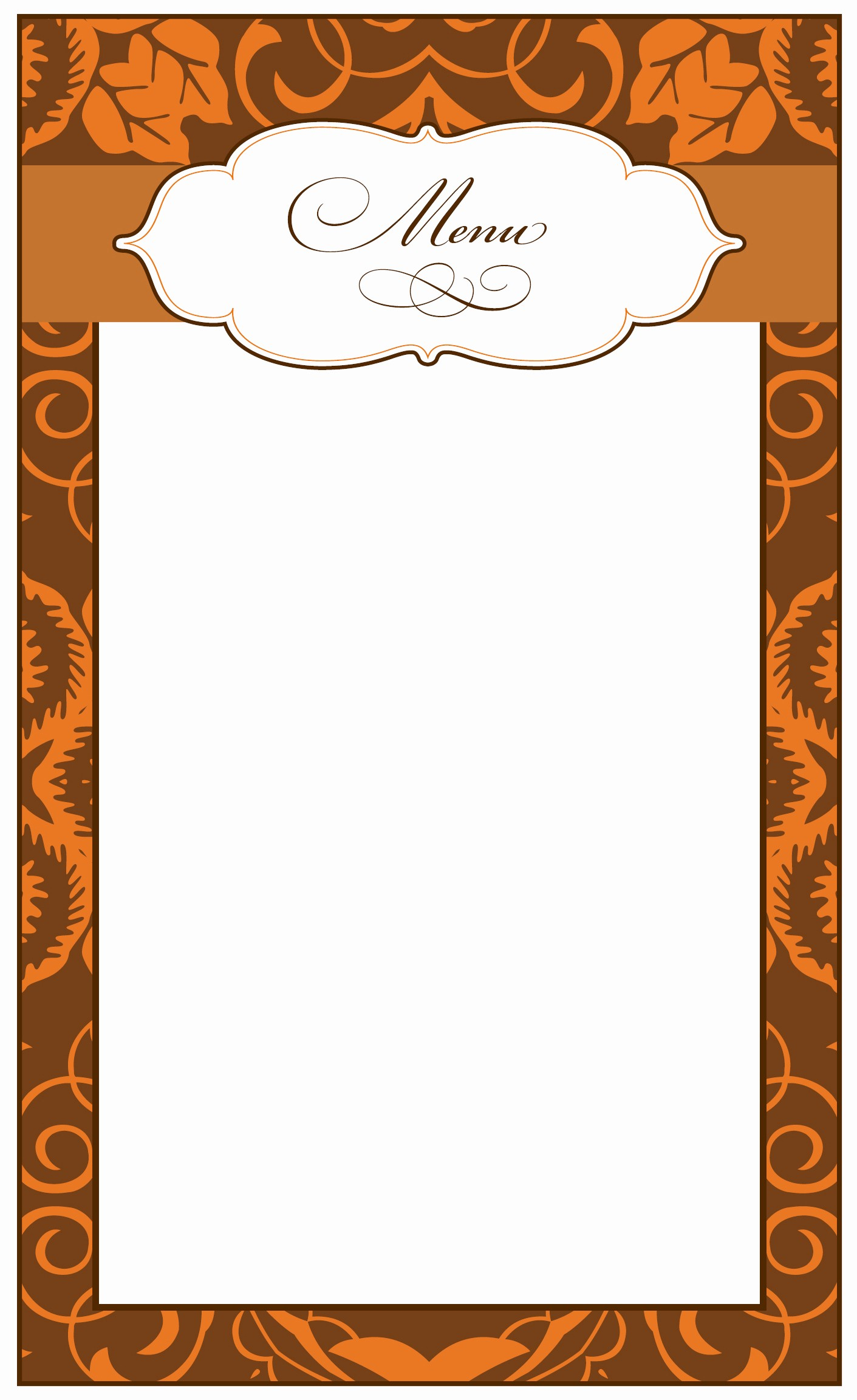 Printable Thanksgiving Menu Template Free Luxury 8 Best Of Printable Thanksgiving Menu Blank