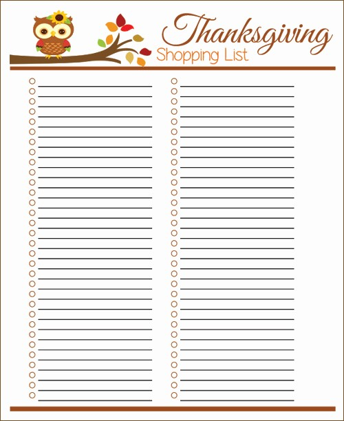 Printable Thanksgiving Menu Template Free Luxury My Owl Barn Printable Thanksgiving Menu Planner