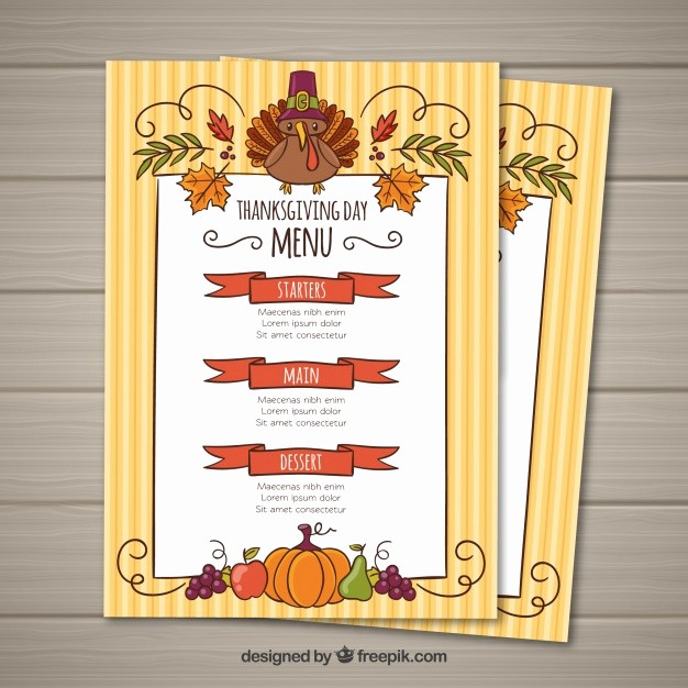 Printable Thanksgiving Menu Template Free Luxury Thanksgiving Menu Template Vector