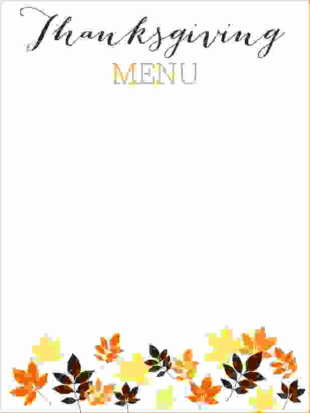 Printable Thanksgiving Menu Template Free New 6 Thanksgiving Menu Template