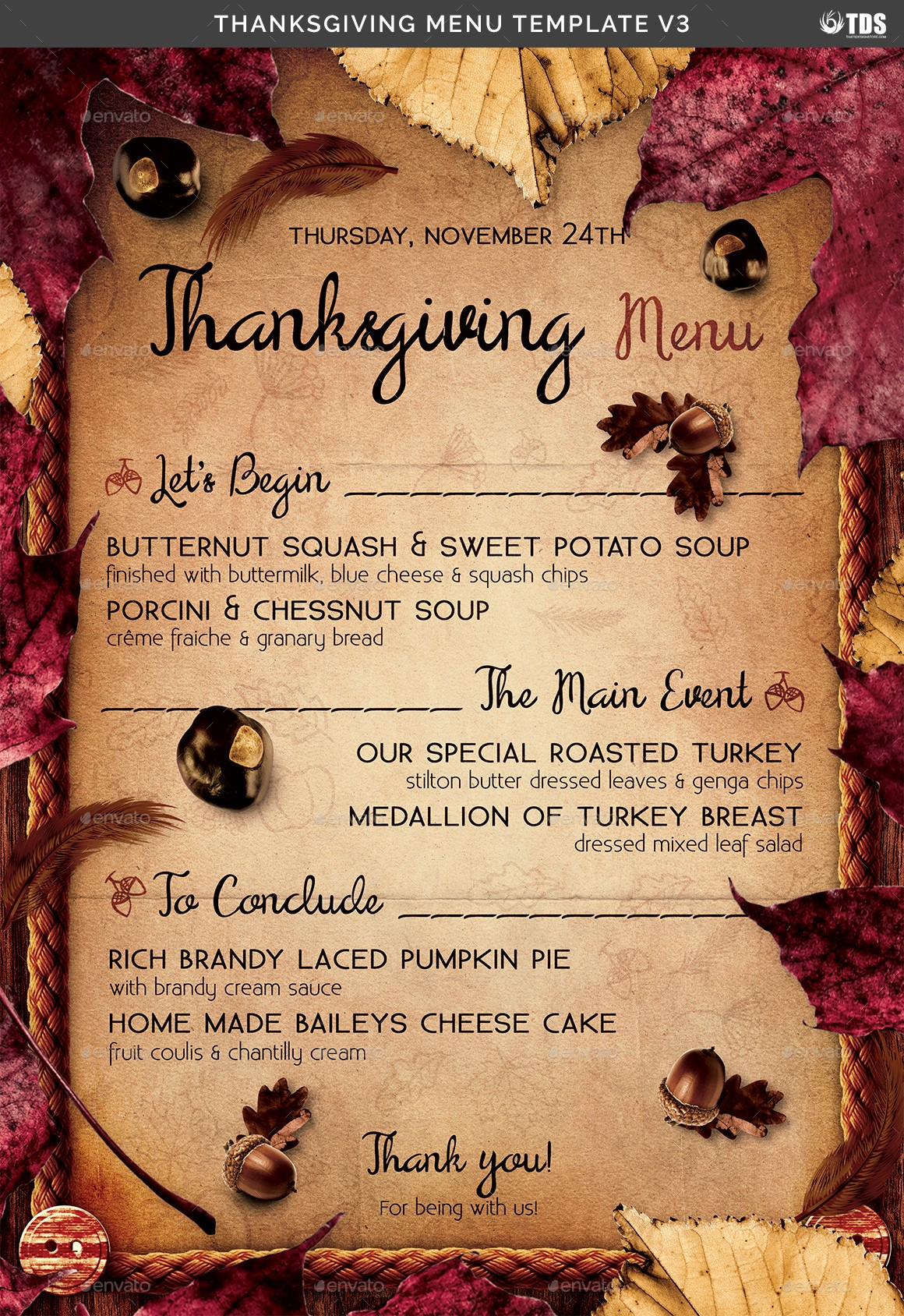 Printable Thanksgiving Menu Template Free Unique Thanksgiving Menu Template V3 by Lou606