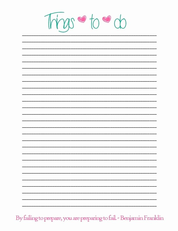 Printable Things to Do Lists Awesome Simple Things to Do List