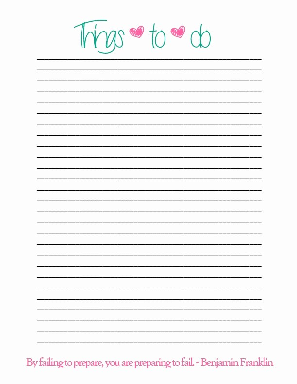Printable Things to Do Lists Best Of Leslieglenn
