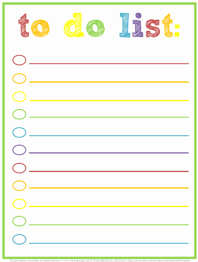 Printable Things to Do Lists Elegant the Focused Mom