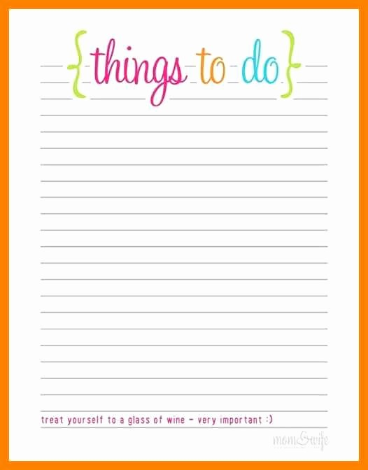 Printable Things to Do Lists Fresh Free Blank Printable to Do List Templates Word Excel Pdf